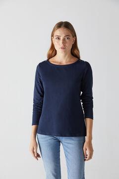 Cortefiel T-shirt básica manga abaloada Azul