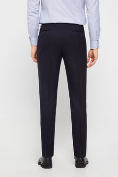 Cortefiel Navy blue slim fit suit trousers Navy