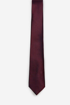 Cortefiel Textured weave tie Red