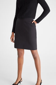 Cortefiel Short skirt with elasticated waist Black