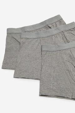 Cortefiel Pack 3 boxers malha Cinzento