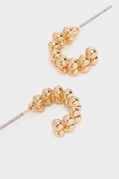 Cortefiel Ball earrings Beige