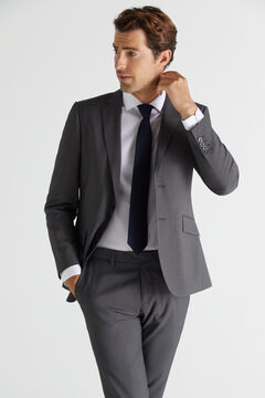 Cortefiel Grey slim fit blazer Gray