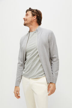 Cortefiel Zipped cardigan Gray