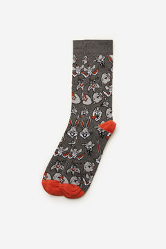 Cortefiel Looney Tunes motif socks Gray