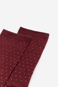 Cortefiel Mini polka-dot socks Fuchsia