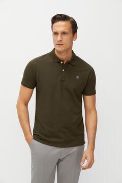 Cortefiel Essential slim fit short-sleeved polo shirt Gray