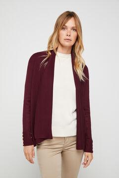Cortefiel Open jacket Coral