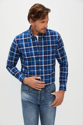 Cortefiel Modern fit medium wash jeans Royal blue