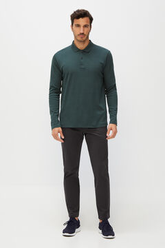 Cortefiel Organic cotton sweatshirt Pistachiogreen