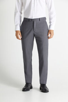 Cortefiel Striped slim fit stain resistant trousers Gray