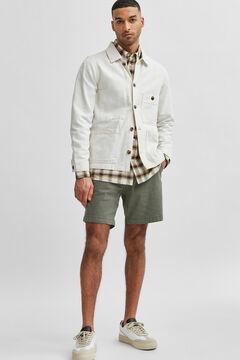 Cortefiel Chino Bermuda shorts Pistachiogreen