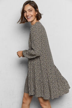 Cortefiel Short sustainable dress Ecru