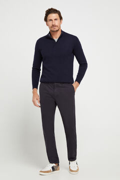 Cortefiel Slim fit winter weight chinos Navy