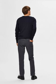 Cortefiel Classic straight trousers  Gray