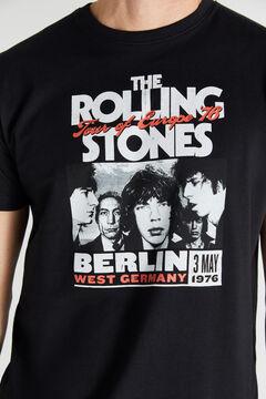 Cortefiel Short-sleeved Rolling Stones T-shirt Black