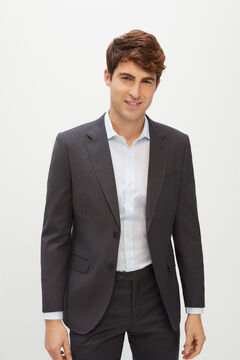 Cortefiel Grey slim fit suit blazer Marengo
