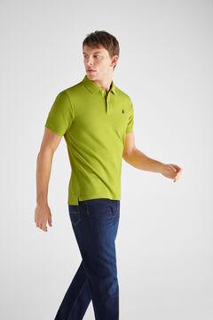 Cortefiel Polo básico slim manga corta Verde