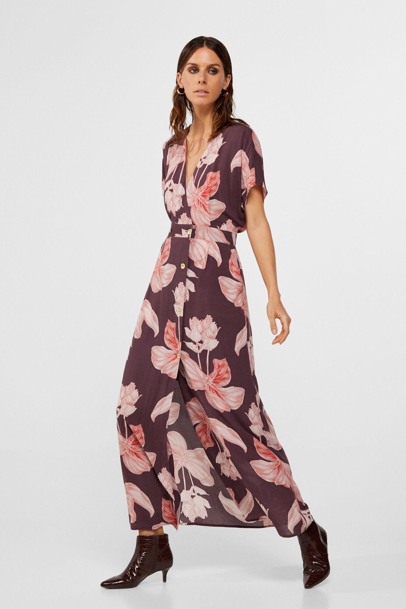 vestido longo estampado tropical | Dress to | Vestidos