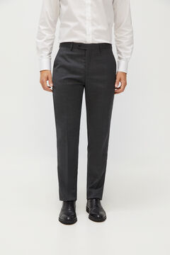Cortefiel Grey tailored fit Coolmax® trousers Gray