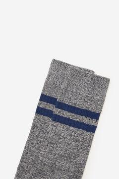 Cortefiel Plain ribbed sports socks Bluejeans