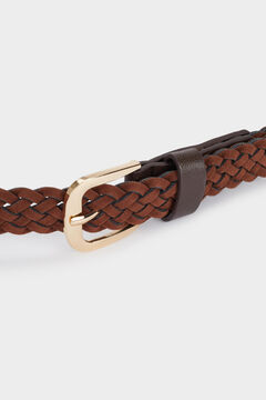 Cortefiel Woven belt Tobaco