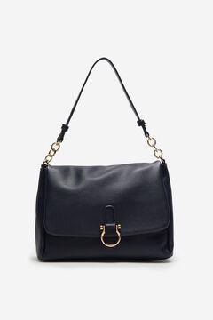 Cortefiel Medium flap bag Royal blue