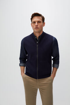 Cortefiel Zip-up gilet Navy