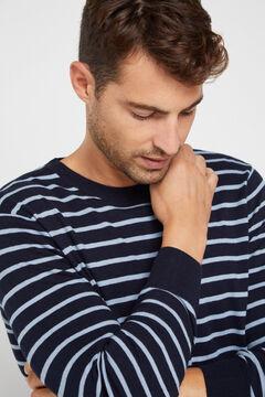 Cortefiel Round neck sweater Navy