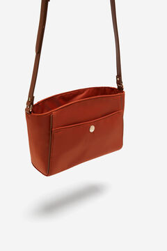 Cortefiel Crossbody bag with front pocket Red