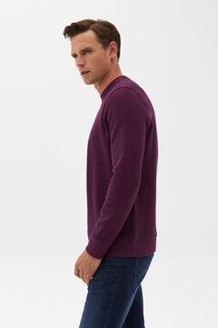 Cortefiel Textured fabric sweatshirt Maroon