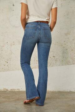 Cortefiel Jeans bolsos patch, boca de sino Fit Azul