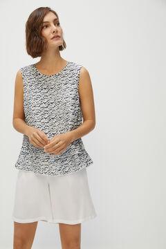 Cortefiel Pleated blouse Ecru