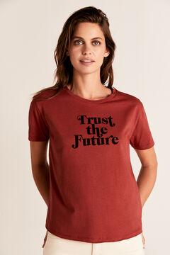 Cortefiel Heart uneven hem t-shirt Natural