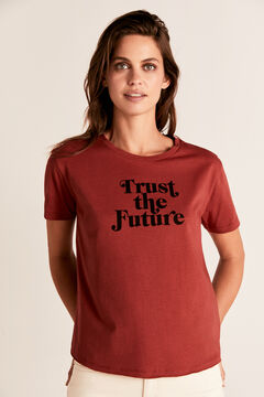 Cortefiel Camiseta estampada cuello caja Varios