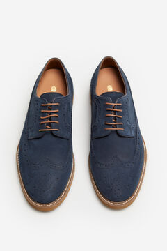 Cortefiel Lace-up rubber sole shoe Blue jeans