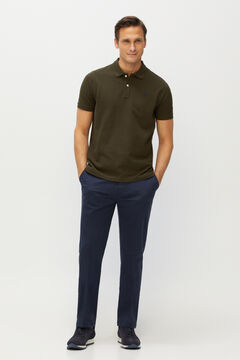 Cortefiel Essential classic fit organic cotton chinos Navy