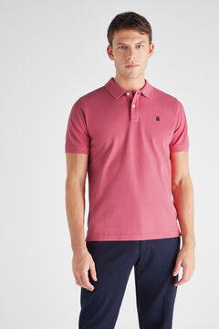 Cortefiel Essential short-sleeved polo shirt Purpura
