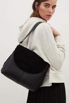 Cortefiel Suede bag  Black