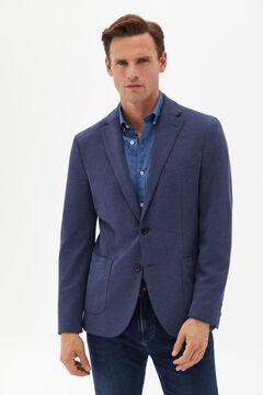 Cortefiel Jersey-knit blazer Turquoise