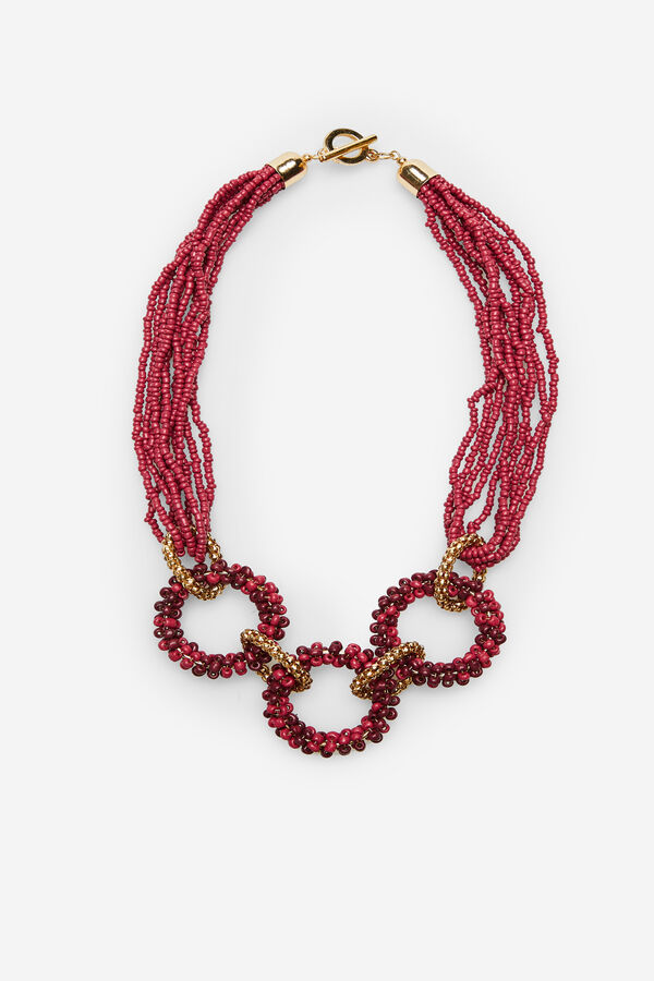 1766c02040dd Cortefiel Collar abalorios Rosa