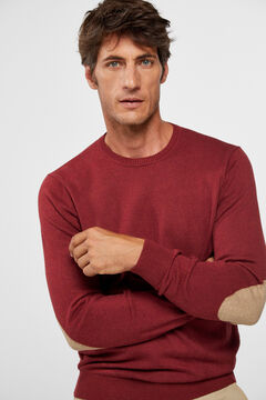 Cortefiel Crew neck jumper Red