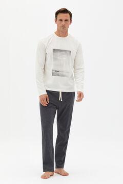 Cortefiel Jersey-knit pyjamas Dark gray