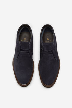 Cortefiel Lace-up rubber-soled boots Navy