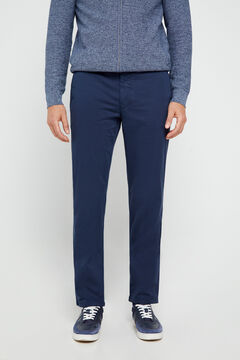 Cortefiel Essential regular fit lightweight chinos Navy