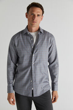 Cortefiel Camisa de cuadros Gris