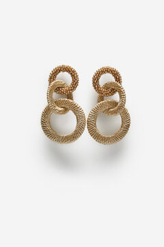 Cortefiel Link earrings Beige