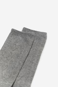 Cortefiel Textured socks Dark gray