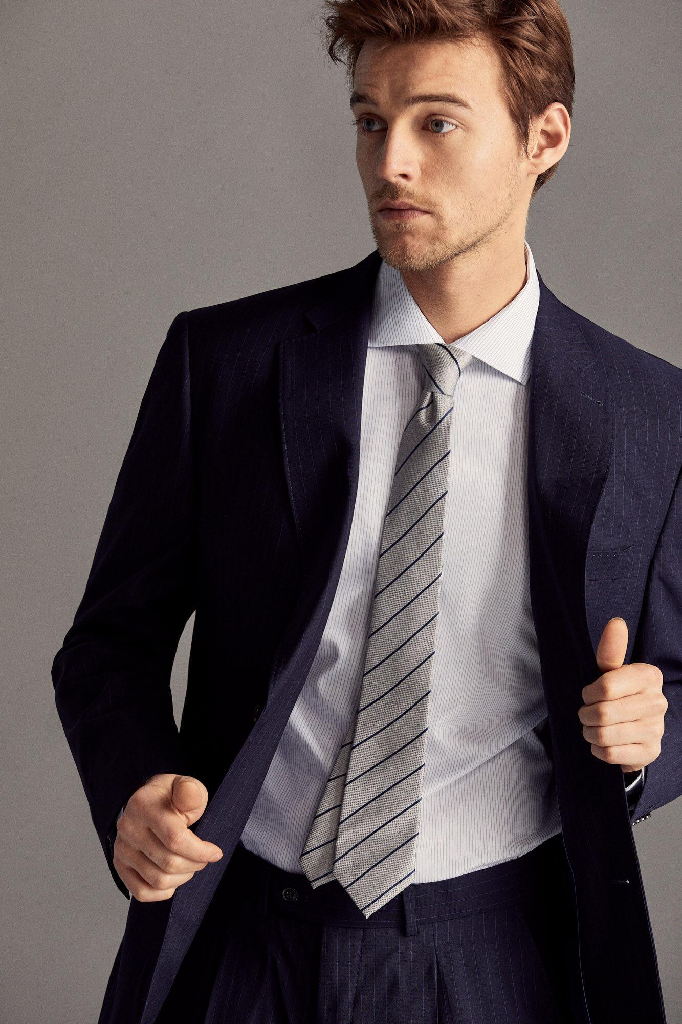 a9258d4d Classic fit striped suit blazer | Suits | Cortefiel Man & Woman