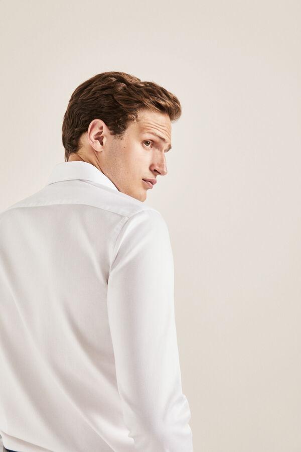 89f47d500 Cortefiel Camisa de vestir microestructura tailored Blanco